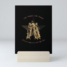 Look Around Black and Parchment Mini Art Print