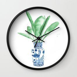 Ginger Jar + Bird of Paradise Wall Clock