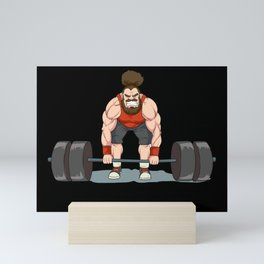 Weightlifting | Fitness Workout Mini Art Print