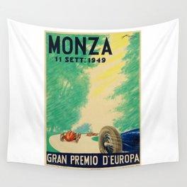Grand Prix Monza, 1949, Gran Premio Monza, vintage poster Wall Tapestry
