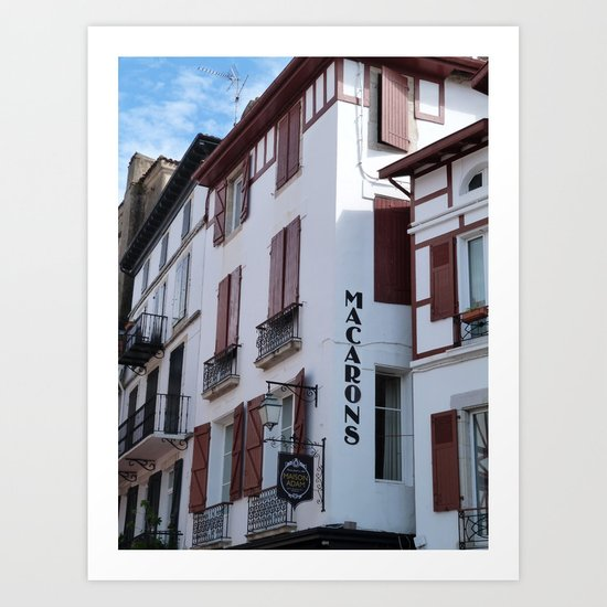 Basque patisserie Art Print