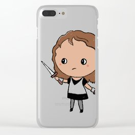Tiny Warrior Clear iPhone Case