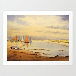 A Great Day For Sailing Art Print