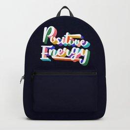 Positive Energy- typography Backpack
