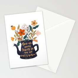 See the flowers quote Stationery Cards