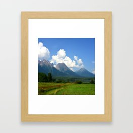 Kathlyn Lake and Hudson Bay Mountain Framed Art Print
