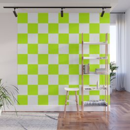 Checker (Lime/White) Wall Mural