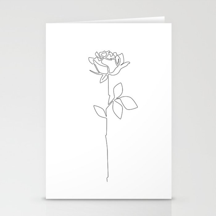 Fragile Rose Stationery Cards