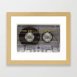 Vintage Audio cassete Framed Art Print