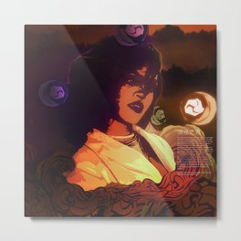 Rihanna as Japanese Deity Triptych (Susanoo) Metal Print