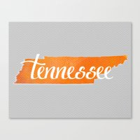 tennessee Canvas Prints featuring Tennessee by Emmy Winstead