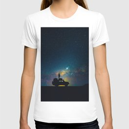 Australian Outback At Night Star Night Sky Milky Way Galaxy Colorful T-shirt