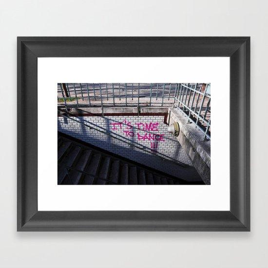 It's time to dance Framed Art Print