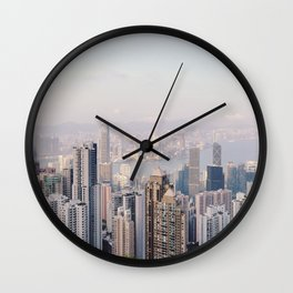 Hong Kong skyline by day Wall Clock