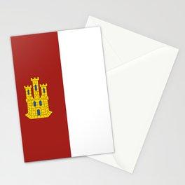flag of castilla la mancha Stationery Cards