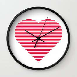 A heart of lines Wall Clock