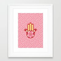 hamsa Framed Art Prints featuring Hamsa by Moirarae