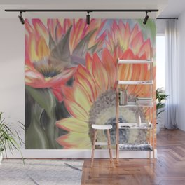 Fall Sunflowers Wall Mural