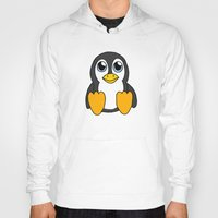 penguin Hoodies featuring Penguin by BlackBlizzard