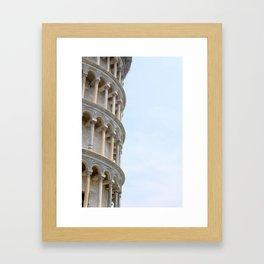 Leaning Tower of Pisa Framed Art Print