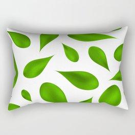 Green summer leafs Rectangular Pillow