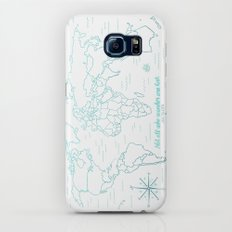 Where We've Been, World, Icy Blue Galaxy S7 Slim Case