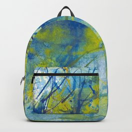By the lake watercolor Backpack