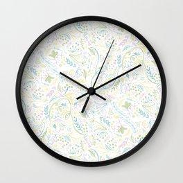 floral Wall Clock
