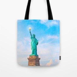 Lamp Beside The Golden Door - Statue Of Liberty Tote Bag