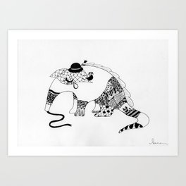 Annie the Antisocial Anteater Art Print