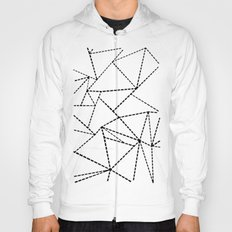 Abstract Dotted Lines Black and White Hoody