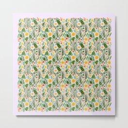 Sunshine Botanical - Blush Version Metal Print