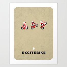 Excitebike Art Print