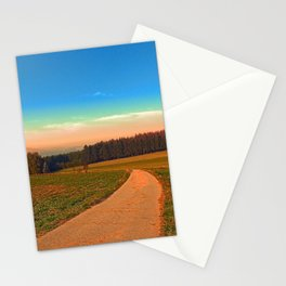 Hiking into the sunset | landscape photography Stationery Cards
