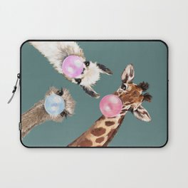 Bubble Gum Gang Dark Green Laptop Sleeve