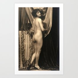 Vintage Nude Art Studies No.59 Lady In Shoes - That's All Art Print