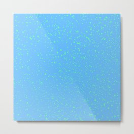 Spattered Blue  Metal Print