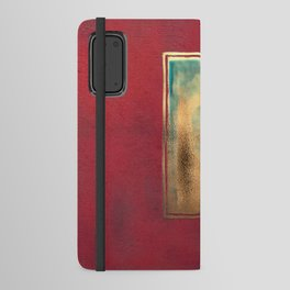 Deep Red, Gold, Turquoise Blue Android Wallet Case