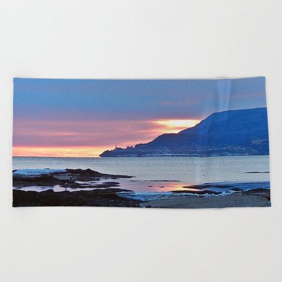 Sunrise in Tourelle Beach Towel