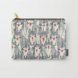 unicorn love indigo persimmon pearl Carry-All Pouch