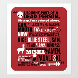 Supernatural - The French Mistake Quotes Art Print
