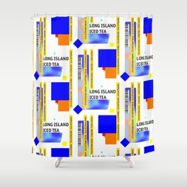"Cocktail ""L"" - Long Island Iced Tea Shower Curtain"