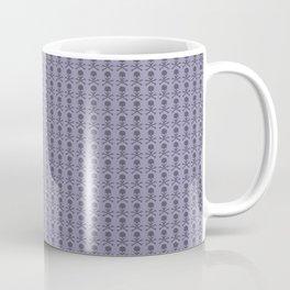Black and Lavender Skulls Coffee Mug