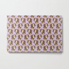 aries pattern zodiac Metal Print