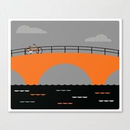 The Last Bike in Amsterdam Canvas Print