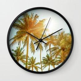 Palms Away - Maldives 3 Wall Clock