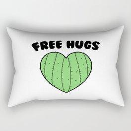 Free Hugs | Cactus Heart Rectangular Pillow