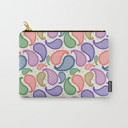 Bubble Paisley Drops Carry-All Pouch