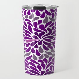 Purple drops Travel Mug