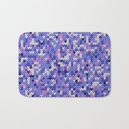 Knitted multicolor pattern 6 Bath Mat